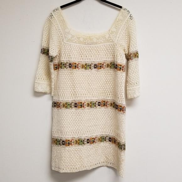 Calypso St. Barth Dresses & Skirts - Calypso St. Barth Cream Knit Shift Dress Size XS
